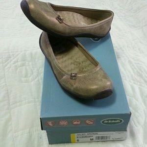 Dr Scholls Bronze size 6 ballerina flat shoes